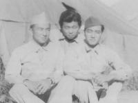 Wallace Onuma and two friends. [Courtesy of Ukichi Wozumi]