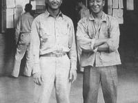 Yukimasa Shiraki and Wo, Co. A. [Courtesy of Ukichi Wozumi]