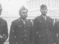 Uki Wozumi, T. Ono, A. Nozawa, and Fundi Shirai visit the White House in Washington, D.C. [Courtesy of Ukichi Wozumi]