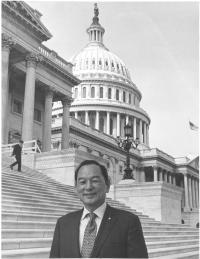 Sparky Matsunaga at the Capitol. [Courtesy of Matt Matsunaga]