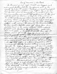 Dr. Richard Kainuma notes on treating the wounded under battlefield conditions, page 1