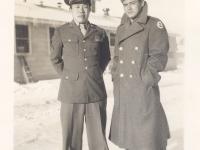 Soko Higa and Richard Yamamoto at Camp McCoy, Wisconsin in November 26, 1942