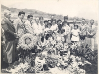 Memorial Service for S/Sgt. Lei Yamashiro in the Punchbowl, Hawaii