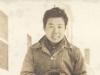 Richard Yamamoto and his camera at Camp McCoy