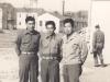 Richard Yamamoto, Hifumi Yamada, and Hank Nakamura at Camp McCoy in October 1942