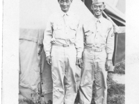 Sam Tomai with tent-mate Takashi Kitaoka at Camp McCoy in July 1942 [Courtesy of Sandy Tomai Erlandson]