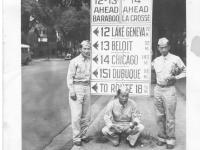 Hide, Ed Mitsukado, Takashi Kitaoka in Madiscon, Wisconsin, July 1942 [Courtesy of Sandy Tomai Erlandson]