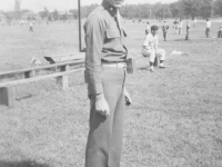 Coach Major Lovell at an Aloha baseball game. [Courtesy of Sandy Tomai Erlandson]