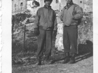 Sam Tomai and a friend in France, December 1944 [Courtesy of Sandy Tomai Erlandson]