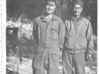 Toshio Inouye and Sam Tomai in December 1944 [Courtesy of Sandy Tomai Erlandson]