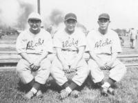 Former Asahi's on the Aloha team - Hide, Yamashita, Joe Takata, Goro Moriguchi [Courtesy of Sandy Tomai Erlandson]