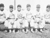 Rural Oahu Players - Yamada (Ewa), Mizusawa (Waialua), Miyagi (Aiea), Fukuda (Waialua), Wada (Wahiawa), Nozaki (Waialua) [Courtesy of Sandy Tomai Erlandson]