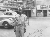 Sam Tomai in Minneapolis on July 11, 1942, across the street from the Orpheum Theatre [Courtesy of Sandy Tomai Erlandson]