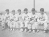 Members of the Aloha baseball team: John Yamada, Lefty Mizusawa, M. Miyagi, F. Wada, Al Nozaki. [Courtesy of Sandy Tomai Erlandson]