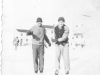 Sam Tomai and Joe Takata ice skate at Camp McCoy, Wisconsin, December 1942 [Courtesy of Sandy Tomai Erlandson]