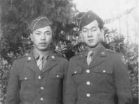 Kazuto Shimizu and Tadao Nakamura, 442nd KIA.  [Courtesy of Kazuto Shimizu]