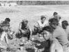 In Northern Italy after war ended, includes Tsunehisa Fukushima, Tom Miyoken and Kazuto Shimizu. [Courtesy of Kazuto Shimizu]