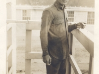 Shinyei Nakamine at Camp McCoy, Wisconsin. (Courtesy of Anita Korenaga)