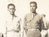 Shinyei Nakamine (left) and his tent mate at Camp McCoy, Wisconsin.