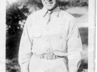 Stanley Teruya at Camp McCoy, Wisconsin (Courtesy of Ethel Teruya)