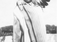 "Takeichi ""Chicken"" Miyashiro dressed as a Wisconsin-Dells Indian, Wisconsin-Dells, Wisconsin. [Courtesy of Lorraine Miyashiro]"