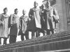 Capitol Building. Left to Right - Tom Ibaraki, Walter Muroguchi, me, Dick Sasaki, Atsuo Sahara, Goro Moriguchi - Taken on Capitol Building steps Sept. 26. [Courtesy of Leslie Taniyama]