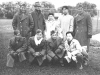 Sept. 26. Madison. L to R 1st Row: Tom Ibaraki, James Ching, Miss Ching - not sister, Wallace Tom, Atsuo Sahara, Second Row: Dick Sasaki, Me, Walter Moriguchi, Francis Tom. [Courtesy of Leslie Taniyama]