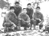 Sept. 26, 1942. Camp McCoy. My Squad L to R. Back Row Yasuo Yasui, Donald Nagasaki, Front row - T. Okumura, Me. I. Inouye. [Courtesy of Leslie Taniyama]