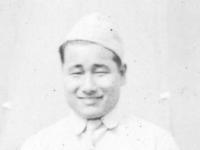 Dr. Yamashiro's Nephew. Camp McCoy Wis. Pvt. George Yamashiro. [Courtesy of Carl Tonaki]