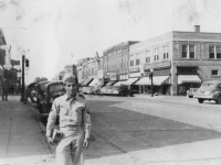 Me in the town of RichLand Center. [Courtesy of Carl Tonaki]