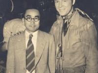 Toshiro Morishige in Hollywood, California with a movie star. [Courtesy of Morishige Family]