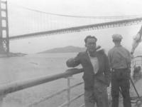 Toshiro Morishige visits San Francisco after the war. [Courtesy of Morishige Family]