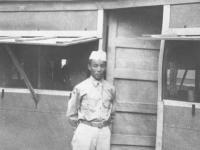 Joe Nakahara at Camp Shelby, Mississippi. [Courtesy of Velma Nakahara]