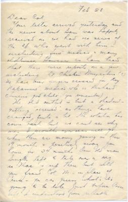 Capt K Kometani, 02/28/1945, page 1
