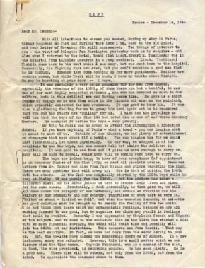 Capt K Kometani, 12/14/1944, page 1