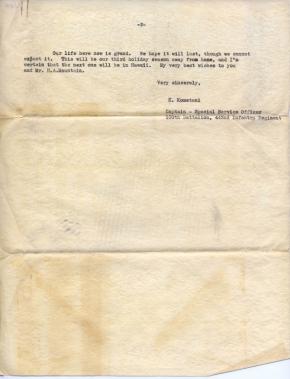 Capt K Kometani, 12/14/1944, page 2