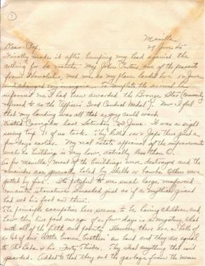 Col Blair E Henderson, 06/29/1945 (page 1)