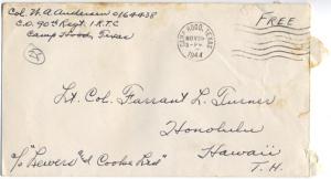Col. WA Anderson, November 27, 1944