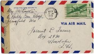 Maj Jim W Lovell, October 23, 1944
