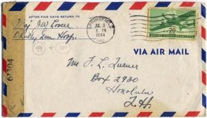 Maj Jim W Lovell, July 6, 1944