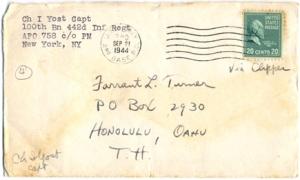 Chaplain I. Yost, September 20, 1944