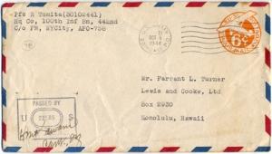 Pfc R Tomita, October 5, 1944