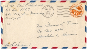 Lt. Col. Blair E Henderson, December 22, 1944