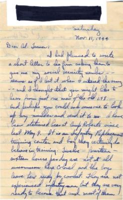 Frank Marzano, 11/11/1944, page 1