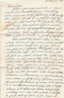 Geo (Bud) Faulder, March 28, 1945 (page 1)