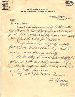 Turner letter - George (Bud) Faulder, 03/31/1945