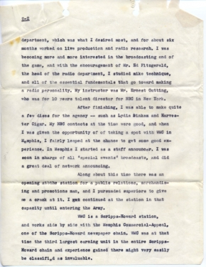 Turner letter, George (Bud) Faulder, 10/17/1944 (page 2)
