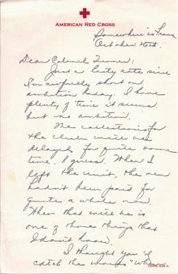 H Kajikawa, 10/26/1944, page 1