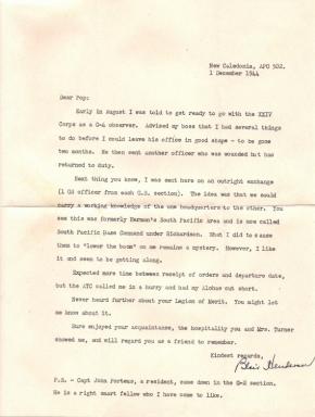 Lt Col Blair E Henderson, 12/01/1944
