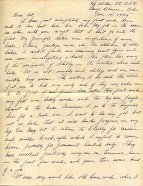 Maj Jim W Lovell, 01/14/1945, page 1
